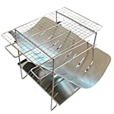 Diantai Faltbarer Grill BBQ Holzkohlegrill tragbarer Klappgrill Edelstahl Camping Lagerfeuer Grill...