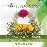 Teabloom Blühender Tee - Eternal Love und Rising Spring Blütentees - 2 Gourmet Teeblüten