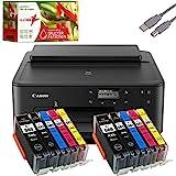 Canon PIXMA TS705 Tintenstrahldrucker schwarz + USB Kabel & 10 komp. realink Druckerpatronen...