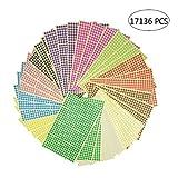 Klebeetiketten, rund, 6 mm, 17136 Punkte, 12 verschiedene Farben, 36 Blatt