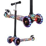 WeSkate Roller Kinder Dreiradscooter mit PU Leuchtenden Räder, einstellbaren Höhe und...