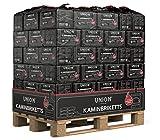500kg Palette (0,40€/kg) UNION Kaminbriketts Kohle Briketts 10kg in der Papiertüte Top Gluthalter...