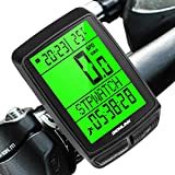 Dichlink Fahrradcomputer Kabellos, Fahrradtacho Wasserdicht Großer LCD-Bildschirm, 20 Funktionen...