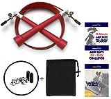 SmartYOU Hochgeschwindigkeits-Springseil für Cardio, MMA, Boxen, WOD – verstellbares gummiertes...