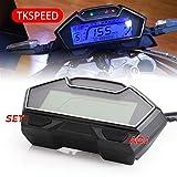 XIEWEICHAO Universal-LCD-modifizierte Teile Motorrad-Geschwindigkeitsmesser Geschwindigkeit...
