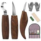 DIAOPROTECT Holz Schnitzwerkzeug,6-in-1 Walnuss Schnitzmesser Beinhaltet...