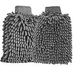 BTkviseQat 2 Stücke Autowaschhandschuh Wasserdicht Mikrofaser, weicher Korallen Auto Chenille...