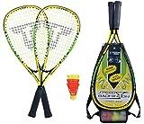 Talbot-Torro Speed-Badminton Set Speed 4000, 2 handliche Alu-Rackets 54,5cm, 3 windstabile...