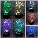 3D Led Lampe Multicolor 7 Farbwechsel Schne Mdchen Raumdekor Tisch Nachtlicht Weihnachtsgeschenk