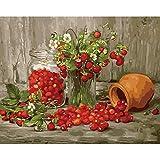 Malen nach Zahlen Kits Kirschblüte DIY Ölgemälde Digital Farbe Leinwand-Ölgemälde Geschenk...