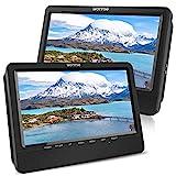 WONNIE 10,5' Tragbare Auto 2 Monitore DVD Player 4 Stunden Kopfstütze Monitor Fernseher 1024 * 600...