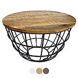 casamia Couchtisch Wohnzimmer-Tisch rund Beistelltisch Lexington ø 55 cm Metall Drahtgestell Gitter...