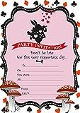 ABV Designs 10 x Einladungskarten für Kindergeburtstag mit roten Umschlägen