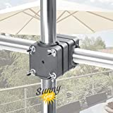 4smile Sonnenschirmhalter Balkongeländer - Sunnyguy, der Solide - Kompakter Sonnenschirmständer...