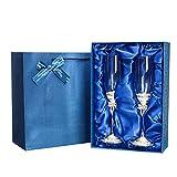 Tkdncbec Set mit 2 Kristallglsern, Weinglser-Set fr Hochzeit, Valentinstag, Jahrestag, Geschenk,...