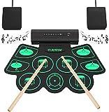 Elektronisches Schlagzeug,Digitales Roll-Up MIDI Drum Kit,9 Silicon Durm Pad Eingebauter...