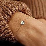 LinZX Zhouyang Armband für Frau modische einfache justierbare Rose weißes Gold Farbe Armbänder...