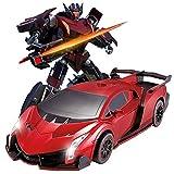 zeyujie [Datum 2020 01.12 Fernbedienung Sportwagen Roboter Geste Erkundung, Einknopf Verformung, 360...