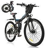 VIVI E-Bike Faltbares Elektrofahrrad,Erwachsene 26 Zoll Ebike Mountainbike Für Herren und Damen...