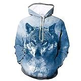 superS capsuleSXZS Unisex 3D Wolf Head Hoodie Männer Und Frauen Casual Sweatshirt Sweatshirt...