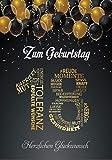 Elegante Glckwunschkarte A5 Geburtstag einzigartig Geburtstagskarte mit Nummer 18 und Glckwnschen...