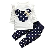 iEFiEL Baby Mädchen Kleidung Set Top Langarm Shirt + Pants Bekleidungsset Outfits (80...