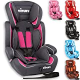 KIDUKU® Kindersitz 9-36 kg (1-12 Jahre) - Autositz ECE R44/04, Gruppe 1/2/3 Autokindersitz...