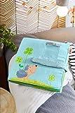 HABA 305258 - Baby-Fotoalbum Glück, Album aus Stoff mit 10 Seiten, Einstecktaschen für 8 Fotos im...