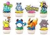 Kuchendekoration aus Esspapier mit Pokemon-Motiv, 30 Stück