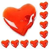 eBuyGB Unisex's Wiederverwendbare Gel-Handwärmer Red Heart 10er Pack