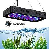 Qnlly Fisch Salzwasser Aquarium Lampe LED Aquarium Dimmbare wachsen Licht 165W 180W Marine-Aquarium...