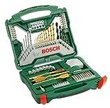 Bosch 70tlg. X-Line Titanium-Bohrer und Schrauber Set (Holz, Stein und Metall, Zubehör...