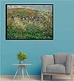 HKOEBST Wandkunst Ölgemälde,Pflaumenbäume Blühen,Hauptdekoration Ölgemälde,Von Claude...