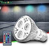 HaavPoois E27 RGB LED Birne Fernbedienung 85-265V 10W PAR20 E27 RGB LED Birne PAR20 E27 RGB...
