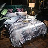 Exlcellexngce Bettbezug,Luxus-Bettdeer Set Home Textile Bequeme Bettwäsche Set Solide Farbe...