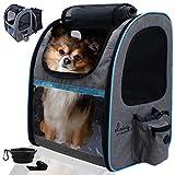 dainz ® Hunderucksack für kleine Hunde bis 8kg [praktische 2in1 Funktion] Katzenrucksack...