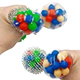 sakulala 3 STK. Anti-Stress-Ball Cooler Squeezing-Ball, Angst-Entlastungsspielzeug Klare...