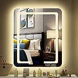 Spiegel Touch + Demising Einfache rahmenlose Smart Badezimmerspiegel LED-Licht...
