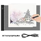 iKALULA LED Leuchttisch, LED Licht Pad A4 LED Leuchttisch Leuchtplatte Dimmbar Tragbare Lichtkasten...