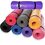 REXOO Pilates Yogamatte Fitnessmatte Gymnastikmatte Sportmatte Matte, Größe: 183cm x 61cm x 1cm,...