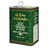 Le Terre di Colombo – 100 Prozent Italienisches Natives Olivenöl Extra - Dose - 3 l