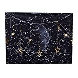 goneryisour The New Glow Luminous Tapisserie – Sternenhimmel Stern Mond Psychedelic Wand Hanging...