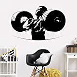 jiushivr Powerlifting Bodybuiliding Barbell Crossfit Wandaufkleber Männer Fitness Wandtattoos...