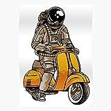 Orangeburps Astronaut Moon Carbine Space Graffiti Stars Humor Smiley Beeindruckende Poster für die...
