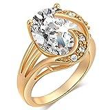 Goldringe für Frauen, Zirkonia, Dekoration für Hochzeit, Verlobungsring, Schmuck, Geschenk.