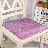 Wosy rutschfeste Sofakissen einfarbig Baumwolle Büro Student Computer Stuhl Kissen einfache Tatami...