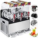 VEVOR Kommerzielle Slusheis Maschine 500 W, Slush Eismaschine 3 x 15 L, Slusheis Maschine 600 x 560...