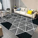 Kunsen Pastell Luxuriöse abstrakte geometrische weiße Network Indoor-Wohnzimmer großer...