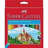 Faber-Castell 111224 - Farbstifte CASTLE Hexagonal, 24er Kartonetui