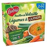 Liebig - Geflügelbrühe, Gemüse Quinoa und Ziegel 2X30Cl - Packung mit 4